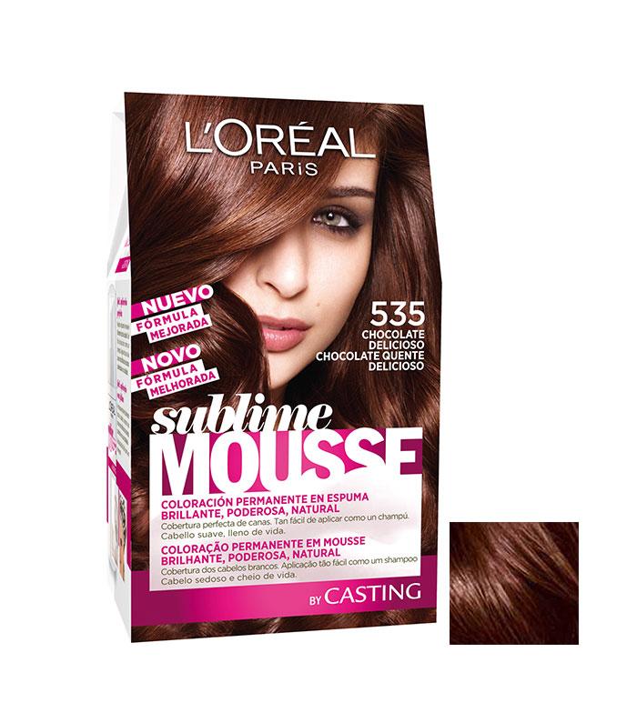 Loreal Paris - Permanent color Sublime Mousse - 535: Chocolate Delicious