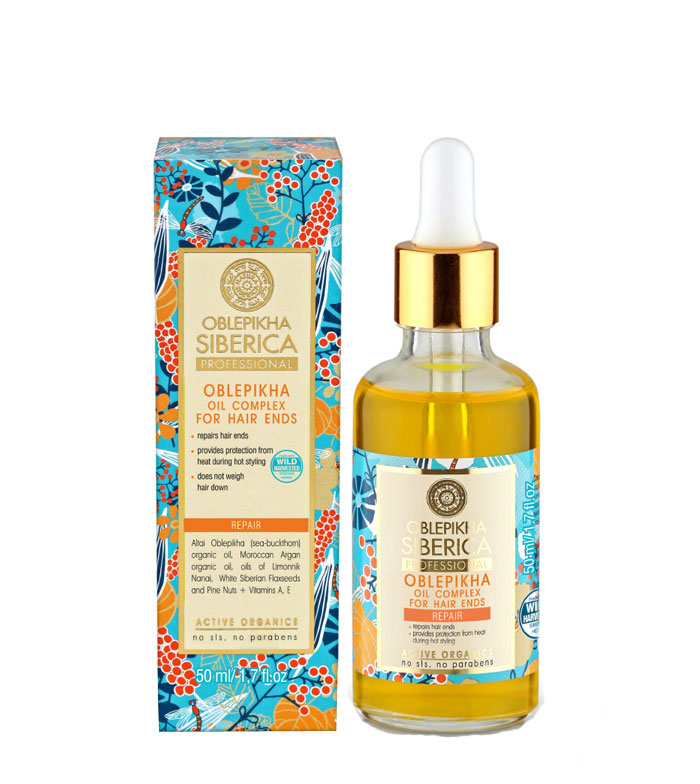 Buy Natura Siberica Complex Oils Oblepikha Repairs For Hair Ends Maquibeauty