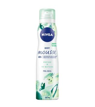 Nivea - Moisturizing body mousse in spray - Cucumber and matcha tea