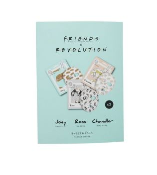 Revolution - *Friends X Revolution* - Pack of 3 tissue face masks - Joey, Ross and Chandler